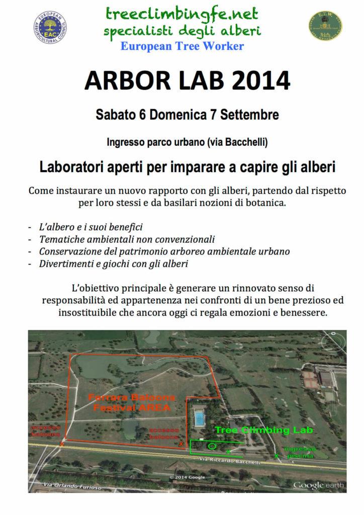 Tree Climbing Ferrara - Arboricoltura Perelli: Arbor Lab 2014